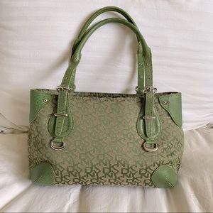 DKNY canvas monogram satchel/handbag